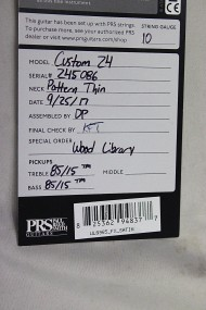 PRS WL satin WB - 7